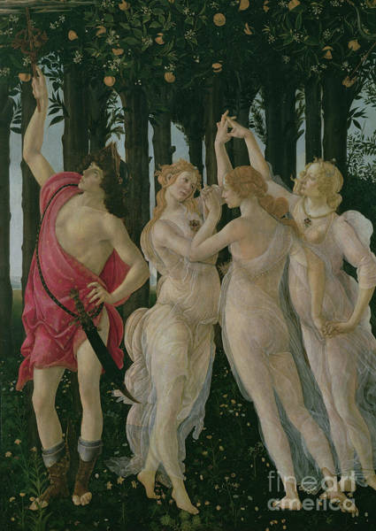 Wall Art - Painting - Detail Of The Three Graces And Mercury, From The Primavera by Sandro Botticelli