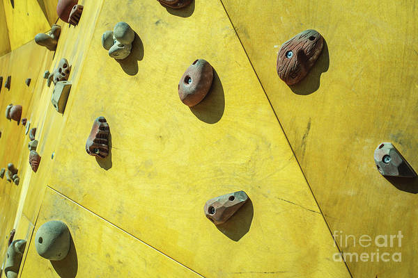 Photograph - Detail Of The Wall Of An Outdoor Climbing Wall To Practice Climbing by Joaquin Corbalan
