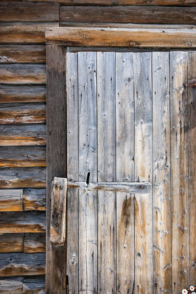 Wall Art - Photograph - Detail Of Worn, Weathered Wooden Door by Kevin G. Smith