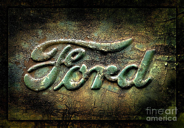 Wall Art - Photograph - Ford Logo Detail Old Rusty Pickup Truck by John Stephens