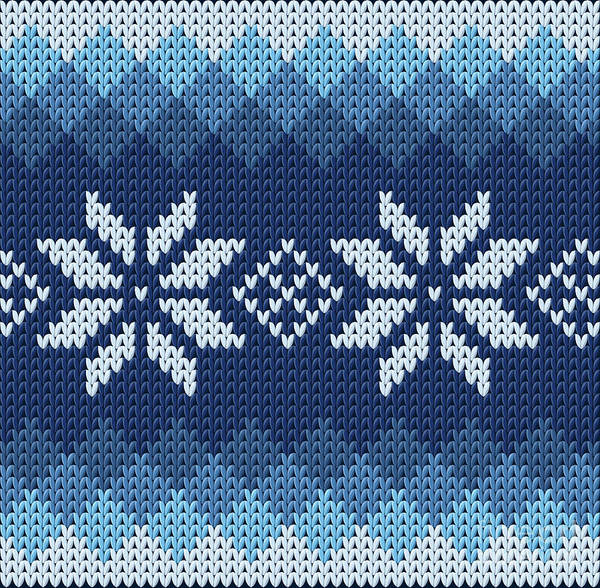 Wall Art - Digital Art - Detailed Knitted Blue Jacquard Pattern by Anna.zabella