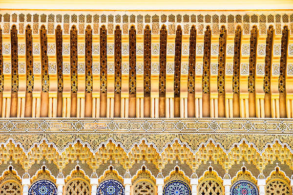 Photograph - Details Above The Palace Doors - Morocco by Stuart Litoff