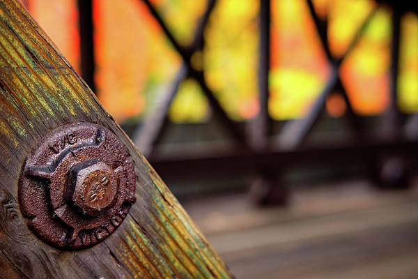 Photograph - Details On A Covered Bridge by Jeff Sinon