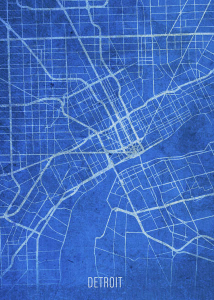 Wall Art - Mixed Media - Detroit Michigan City Street Map Blueprints by Design Turnpike