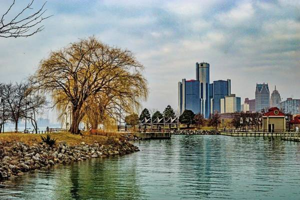 Photograph - Detroit Skyline And Riverwalk Dsc_0076 by Michael Thomas