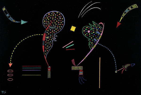 Wall Art - Painting - Deux Cotes, 1938 by Wassily Kandinsky