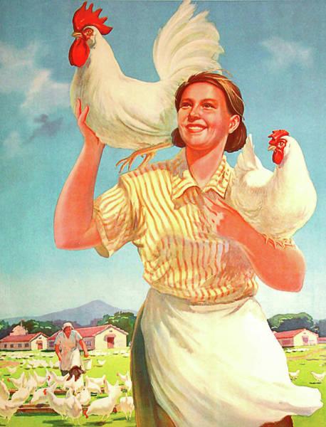 Propaganda Digital Art - Develop Your Chicken Farm by Long Shot