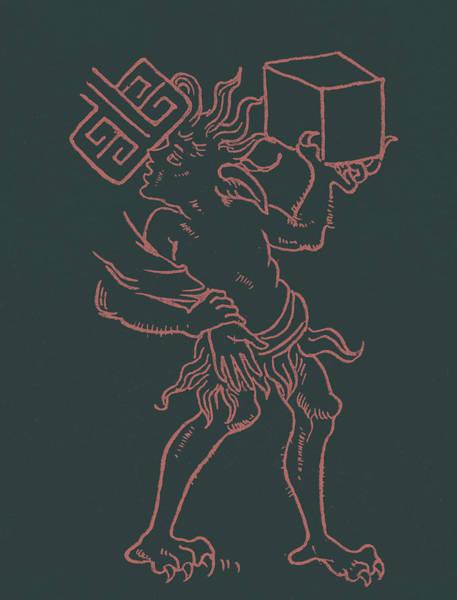 Devilish Drawing - Devil Detail by English School