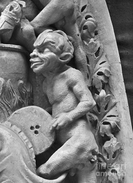 Wall Art - Sculpture - Devil Fanning The Fire, From The Last Judgement Of The Cathedral Of St Etienne In Bourges  by French School