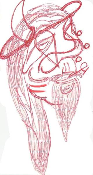 Devilish Drawing - Devilish Bubbles by Wizlawz