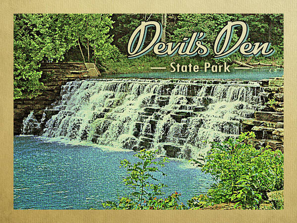 1960s Digital Art - Devil's Den State Park by Flo Karp
