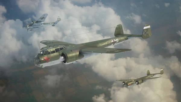 Luftwaffe Wall Art - Digital Art - Devils In Flight by Anastasios Polychronis