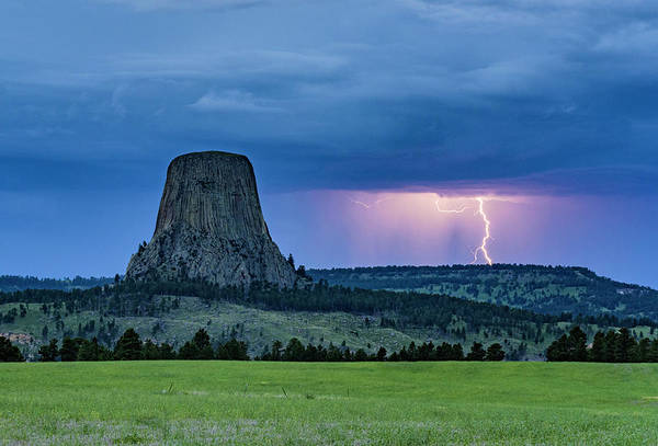 Photograph - Devils Tower Electric by Laura Hedien