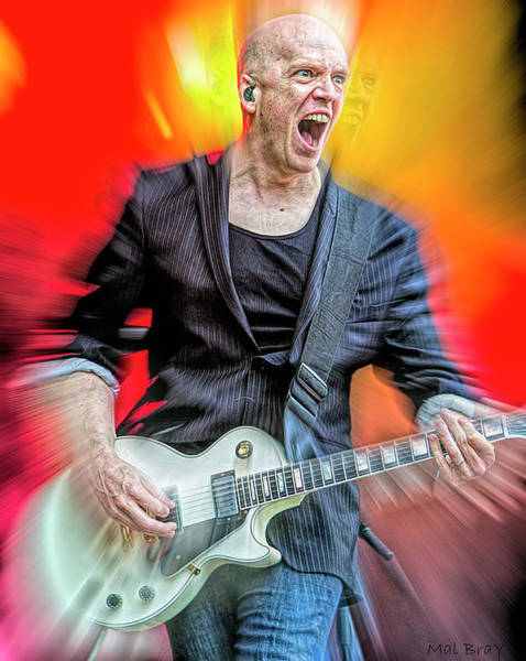 Wall Art - Mixed Media - Devin Townsend by Mal Bray