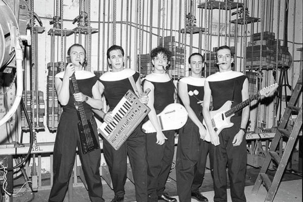 Horizontal Photograph - Devo Portrait Backstage by Michael Ochs Archives