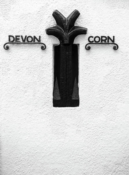 Photograph - Devon Cornwall Boundary Marker by Helen Northcott