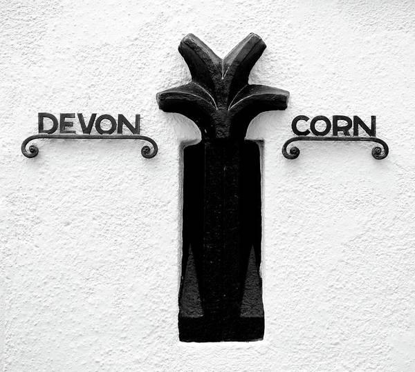 Photograph - Devon Cornwall Boundary Marker II by Helen Northcott