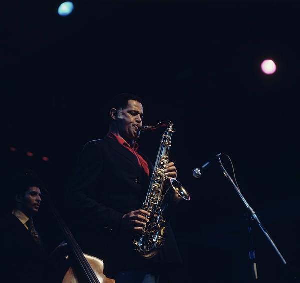 Wall Art - Photograph - Dexter Gordon Performs On Stage by David Redfern