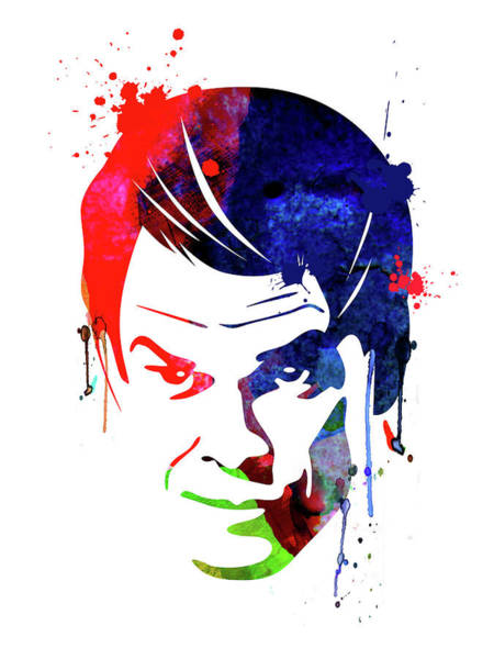 Academy Award Wall Art - Mixed Media - Dexter Watercolor by Naxart Studio