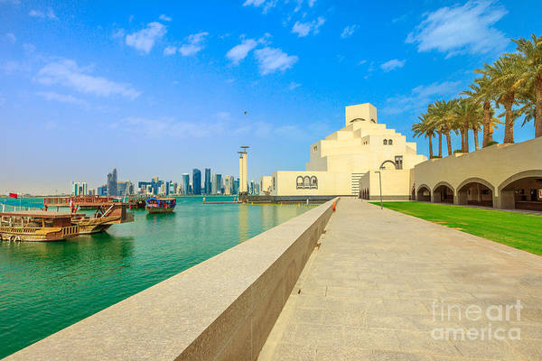 Photograph - Dhow Harbour Doha by Benny Marty