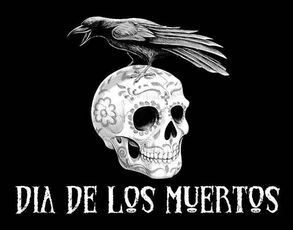 Drawing - Dia De Los Muertos by Barry Munden