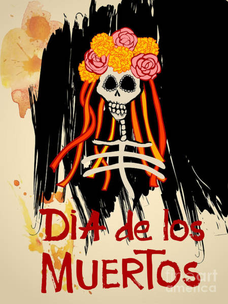 Mexico Wall Art - Digital Art - Dia De Los Muertos Day Of The Dead by Ajgul