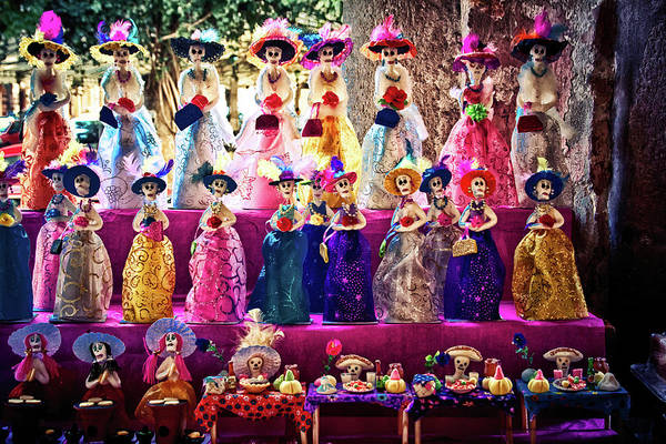 Photograph - Dia De Los Muertos Spooky Candy Catrinas by Tatiana Travelways