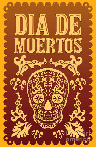 Mexico Wall Art - Digital Art - Dia De Muertos - Mexican Day Of The by Julio Aldana