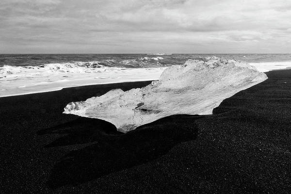 Photograph - Diamond Beach Iceland Black And White 6301901 by Rick Veldman