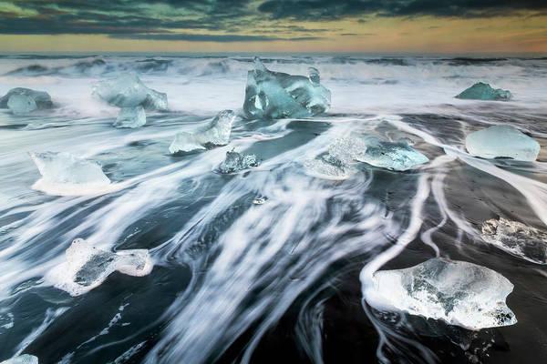 Photograph - Diamond Beach Iceland II by Joan Carroll