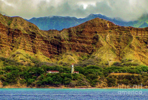 Photograph - Diamond Head Lighthouse At Diamond Head Crater by D Davila