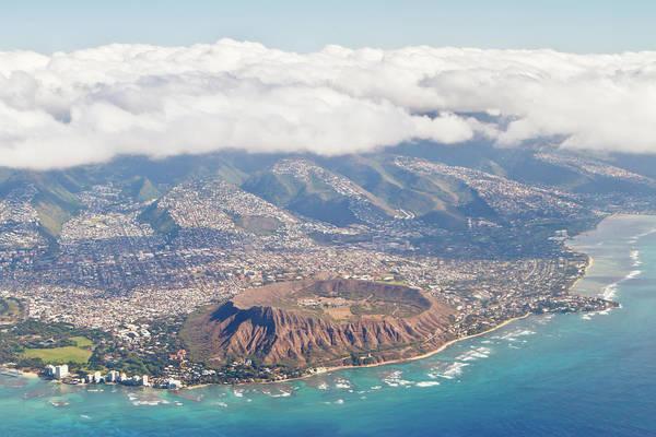 Surf City Usa Photograph - Diamond Head - Waikiki, Hawaii by Laszlo Podor