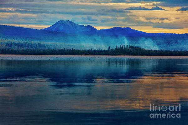Mixed Media - Diamond Lake Oregon Reflection by David Millenheft