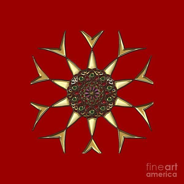 Digital Art - Diamond Ring Mandala by Carlos Diaz
