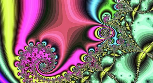Digital Art - Diamond Tail Spiral Pinkish by Don Northup