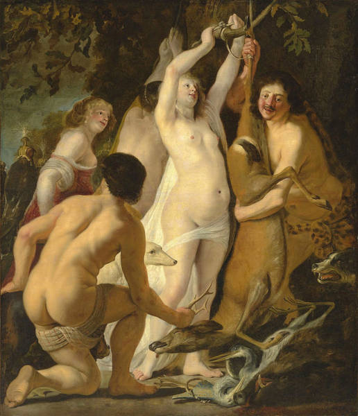 Painting - Diana After The Hunt, With A Portrait Of The Artist by Christiaen van CouwenberghStylianou