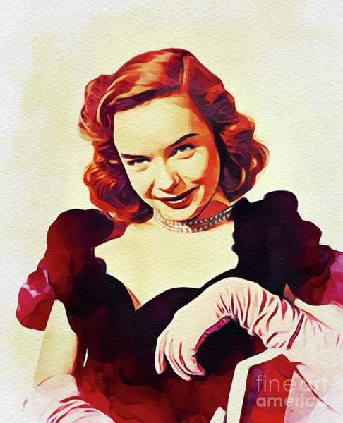 Lynn Wall Art - Painting - Diana Lynn, Vintage Actress by John Springfield