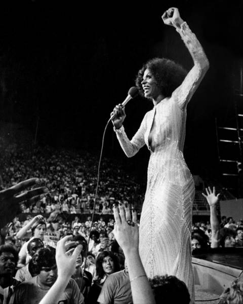Queen Photograph - Diana Ross Hands Reach For The Stars As by New York Daily News Archive