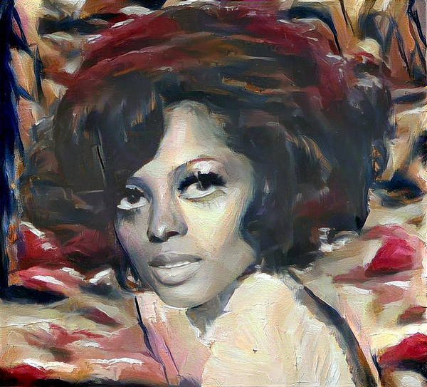 Digital Art - Diana Ross by Richard Laeton