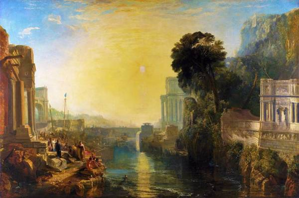 Wall Art - Painting - Dido Who Builds Carthage - Digital Remastered Edition by William Turner