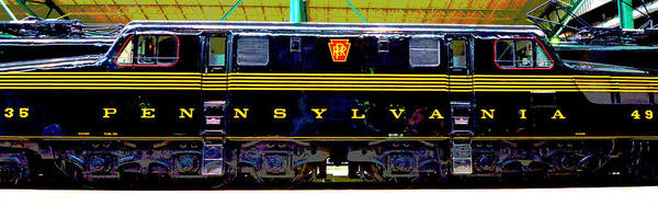 Wall Art - Photograph - Diesel Electric 4935 Profile by Paul W Faust - Impressions of Light