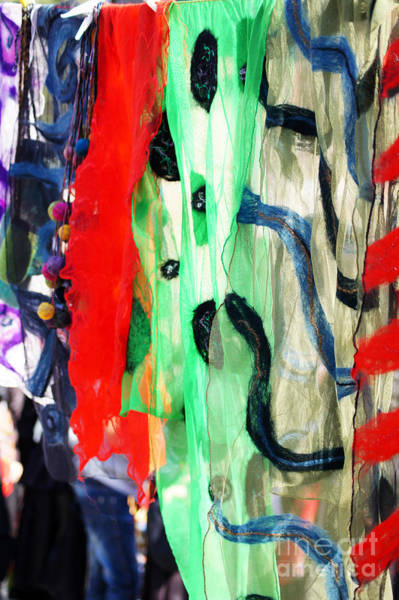 Vibrant Color Wall Art - Photograph - Different Colors Scraft On The Street by Anna Bogush