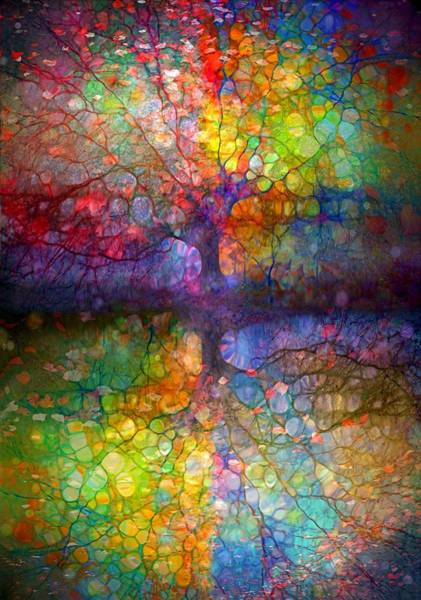 Distortions Digital Art - Different Colours Of The Same Tree by Tara Turner