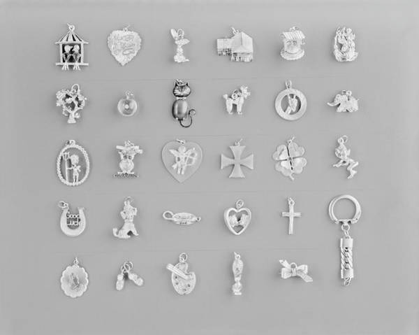 Photograph - Different Types Of Pendant On White by Tom Kelley Archive