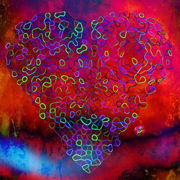 Wall Art - Digital Art - Digiheart X by Bill King