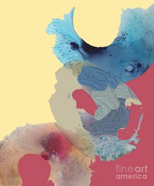 Wall Art - Mixed Media - Ocean Circles Wave  by Vesna Antic