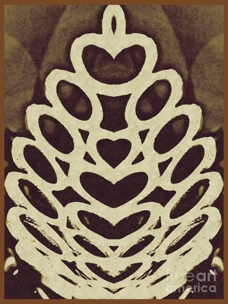 Oval Digital Art - Digital Acorn by Sarah Loft