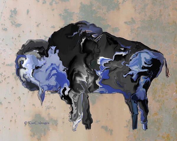 Digital Art - Digital Bison #6 by Kae Cheatham
