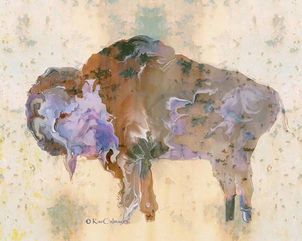 Digital Art - Digital Bison 6a by Kae Cheatham