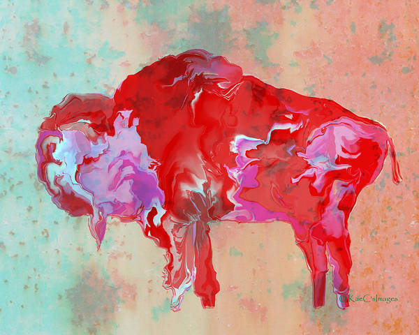 Digital Art - Digital Bison 6b by Kae Cheatham
